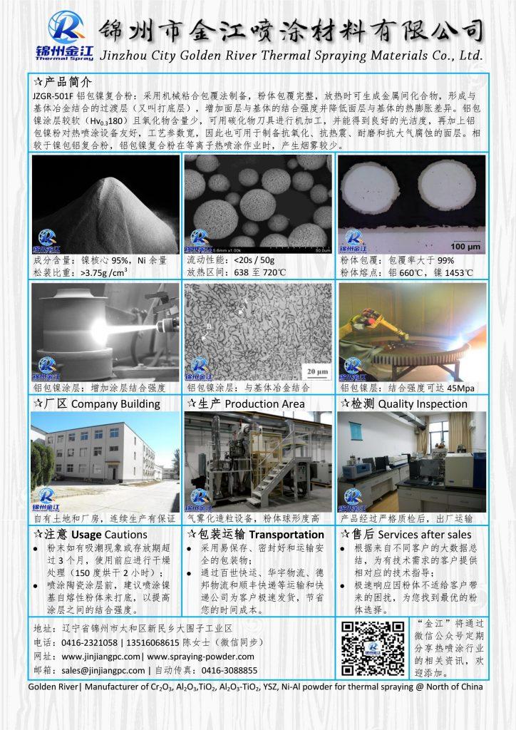 热喷涂铝包镍粉